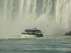in the boat before the Niagra falls